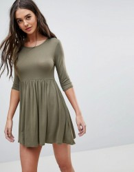 Lasula Smock T-Shirt Dress - Green