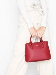 Lauren Ralph Lauren Marcy Satchel Mini Håndtaske Crimson