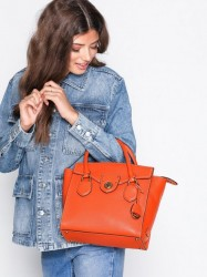 Lauren Ralph Lauren Medium Satchel Håndtaske Orange