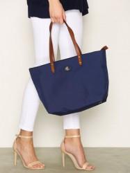 Lauren Ralph Lauren Nylon Tote Håndtaske Blå