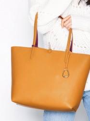 Lauren Ralph Lauren Reversable Tote Medium Håndtaske Saffron
