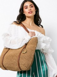 Lauren Ralph Lauren Tote Medium Håndtaske Natural