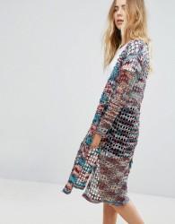 Lavand Printed Kimono - Multi