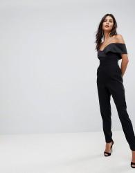 Lavish Alice Bardot Tailored Jumpsuit - Black