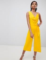 Lavish Alice cowl neck culotte jumpsuit - Yellow