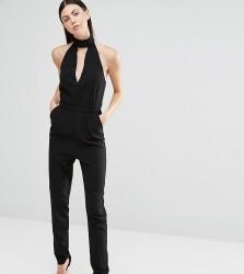 Lavish Alice Tall Halter Neck Tailored Jumpsuit - Black
