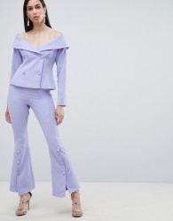 Lavish Alice woven bell hem tailored trousers - Blue