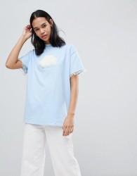 Lazy Oaf Fluffy Cloud Oversize T-Shirt - Blue
