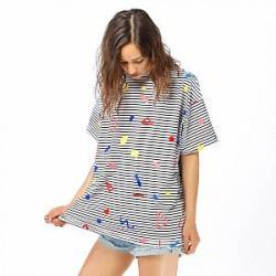 Lazy Oaf Top - Shapes Stripe