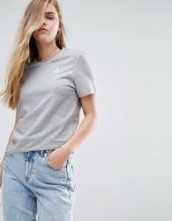 Le Coq Sportif Boyfriend Tricolores Ringer T-Shirt - Grey