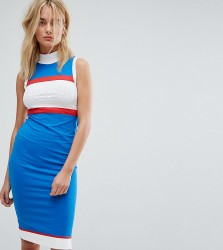 Le Coq Sportif Exclusive To ASOS High Neck Midi Dress - Multi
