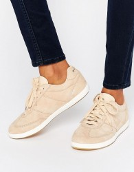 Le Coq Sportif Exclusive To ASOS Stadio Trainers In Pale Pink Nubuck Leather - Beige