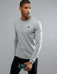 Le Coq Sportif Logo Long Sleeve Top - Grey