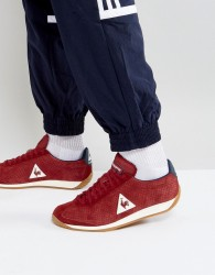 Le Coq Sportif Quartz Perforate Nubuck Trainers In Red 1720087 - Red