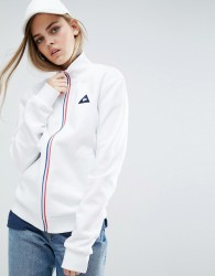Le Coq Sportif Sweat Bomber Jacket With Tricolores Zip - White