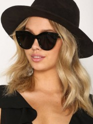 Le Specs Air Heart Solbriller Sort/Guld