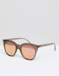 Le Specs Half Moon Magic Cat Eye Sunglasses In Mocha - Pink