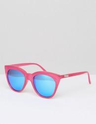 Le Specs Hot Large Cat Eye Sunglasses - Pink