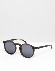 Le Specs Teen Spirit Deux round sunglasses in tort - Brown
