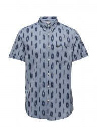 Lee Button Down Ss Faded Blue
