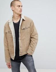 Lee cord borg jacket - Beige