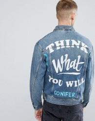 Lee X Conifer Oversized Rider Denim Jacket - Blue