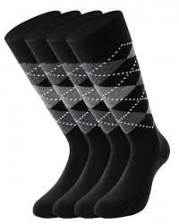 Lenz 2 Par Lenz Knæ-høje Sokker Med Mønster 516 10