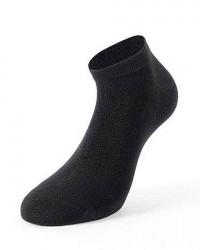 Lenz Bambus Ankel-sokker 2-Pak Unisex i Sort 451 10