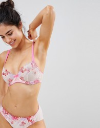Lepel Eliza Embroidered Bra A-DD Cup - Pink