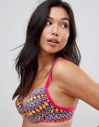 Lepel Rainbow Beach Twist Plung Bikini Top - Pink