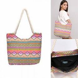 Lesara Shopper med etnisk mønster