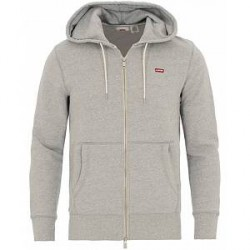 Levi's Original Zip Up Hoodie Medium Grey Heather