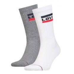 9bebaab2a79a Levis 2-pak 120SF Sportswear Regular Cut Socks - White Grey   Kampagne