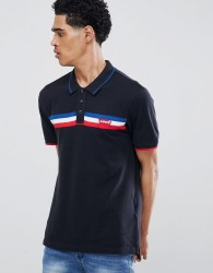 Levi's Chest Stripe Polo Shirt Black - Black