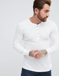 Levi's Henley Long Sleeve T-Shirt In Muscle Fit - White