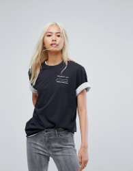 Levi's Line 8 T Shirt with Mesh Detail - White