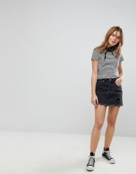 Levi's Raw Hem Denim Skirt - Black