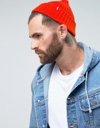 Levi's Ribbed Beanie - Orange