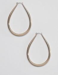 Liars & Lovers chunky gold oval hoop earrings - Gold