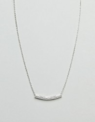 Liars & Lovers Fine Etched Bar Necklace - Silver