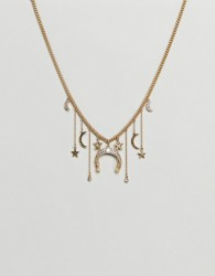 Liars & Lovers Gold Cresent Charm Detail Necklace - Gold
