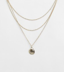 Liars & Lovers multi chain gold shell necklace - Gold