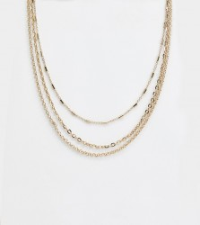 Liars & Lovers multirow mixed gold chain necklace - Gold