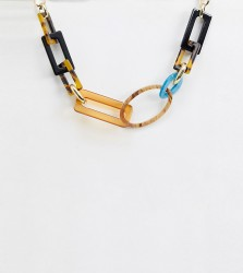 Liars & Lovers resin link necklace - Multi