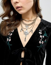 Liars & Lovers Statement Choker with Chain Detail - Gold