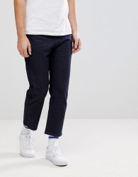 Linbergh Raw Indigo Cropped Jeans - Navy