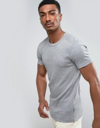Lindbergh Basic Muscle Fit T-Shirt - Grey