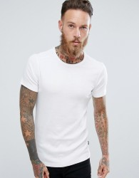 Lindbergh Basic Muscle Fit T-Shirt in White - White