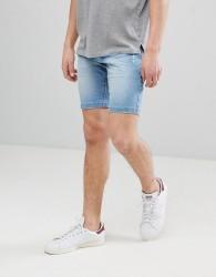 Lindbergh Denim Shorts In Blue - Blue