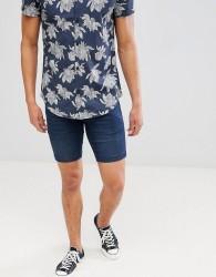 Lindbergh Denim Shorts In Blue - Grey